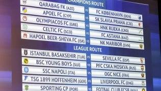 Champions, il Napoli pesca il Nizza: sarà sfida a Balotelli